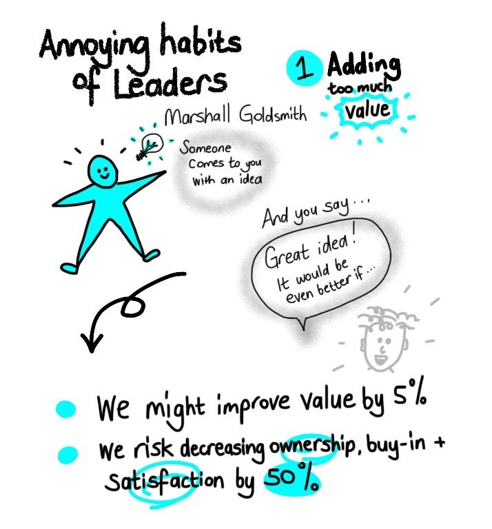 mistakes leaders make to try to add value