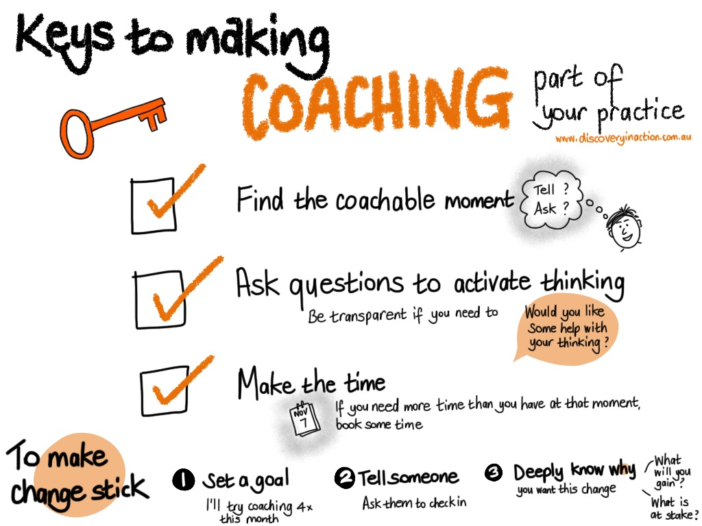 Keys to making coaching part of your practice