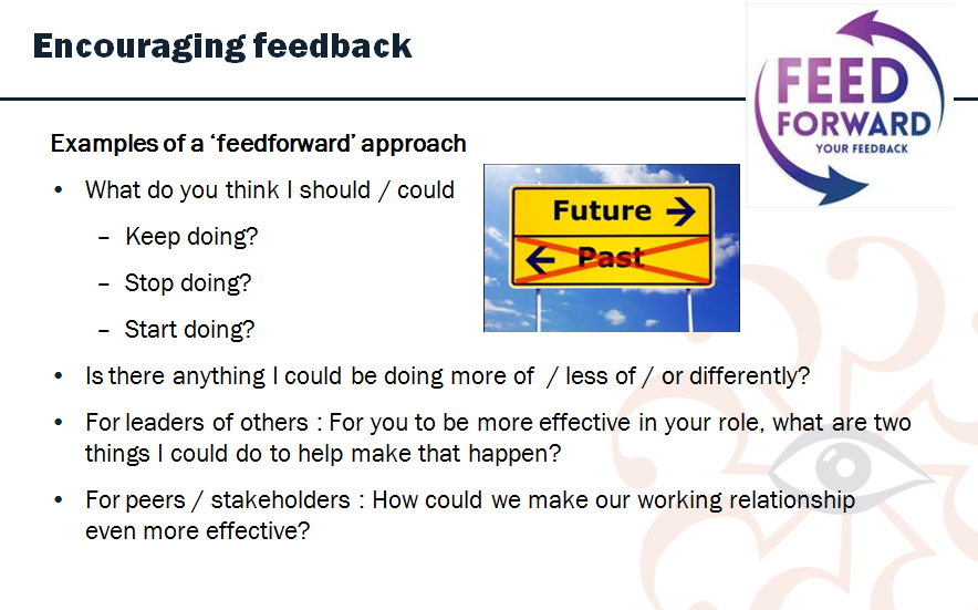using  u2018feedforward u2019 to improve your effectiveness
