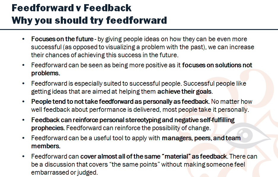 Using Feedforward To Improve Your Effectiveness