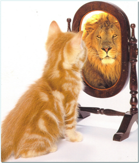 leader reflection in mirror